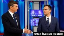 Borut Pahor (L) i Marjan Šarec (D) tokom jednog TV duela