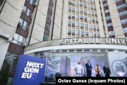Ursula von der Leyen a vizitat Spitalul Universitar de Urgență din București, care va beneficia de investiții prin PNRR.