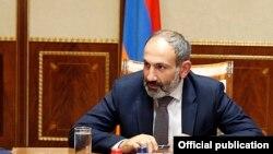 Никол Пашинян в резиденции премьер-министра Армении, Ереван, 8 мая 2018 г.