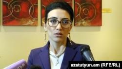 Исполняющая обязанности министра юстиции Арпине Ованнисян (архив)