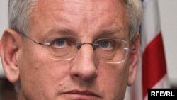 "Swedish Foreign Minister Carl Bildt: ""I think we have overall a very good atmosphere."""