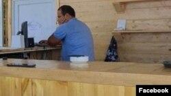 Armenia -- Parliament deputy Hayk Sargsian is seen sitting behind the bar at a beach club, July 26, 2020.