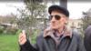 Azerbaijan. Baku. Azerbaijani old man talks to RFERL Azerbaijani service about coronavirus