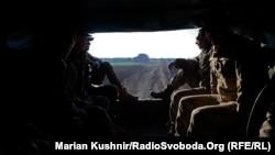 Позиції українських військових поблизу села Кримське, Луганська область