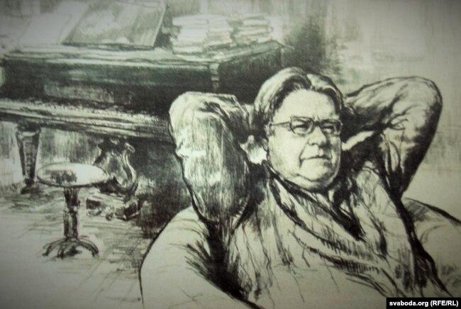 С. Герус. Партрэт А. Багатырова. 1968 год