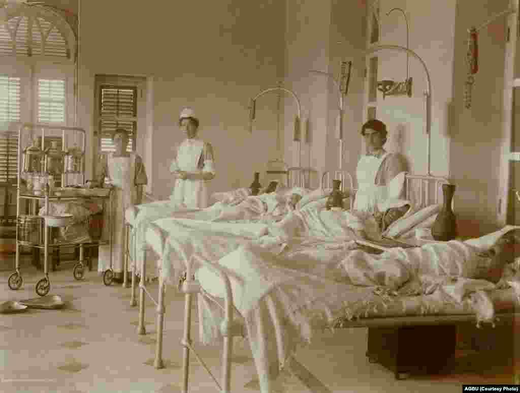 The Armenian hospital in Aleppo in 1920