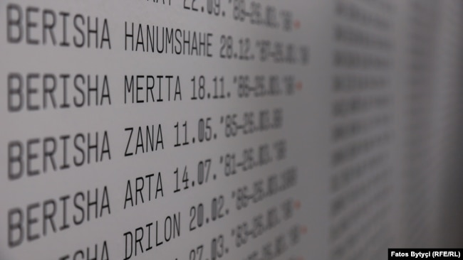 Emrat e disa fëmijëve të vrarë gjatë luftës në Kosovë.