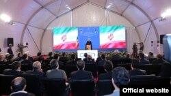 حسن روحانی در مراسم افتتاحیه طرح ساخت مسکن