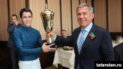 Татарстан президенты Рөстәм Миңнеханов һәм Таһир Метшин