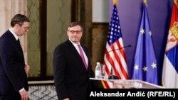 Aleksandar Vučić i Metju Palmer, Beograd, jun 2019.
