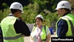 რეგიონული განვითარებისა და ინფრასტრუქტურის მინისტრი მაია ცქიტიშვილი რიკოთის საუღელტეხილო გზის მშენებლობაზე