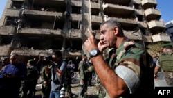 На месте взрыва в Бейруте, 19 ноября 2013 г.