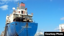 "The Georgian-flagged cargo vessel ""Vasilios N"" was detained by Libyan authorities in March 2010."