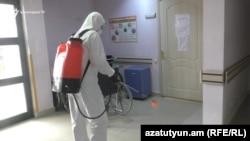 Дезинфекция в больнице в Гюмри