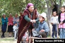 Празднование сундет-тоя в Баткенской области в Кыргызстане.