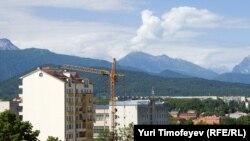 Russia -- View of Vladikavkaz, the capital of North Ossetia - Alaniya, 10Jun2010
