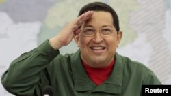 Претседателот на Венецуела Уго Чавез во јули 2011