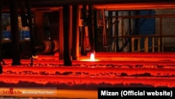 An Iranian steel factory in Isfahan (file photo)