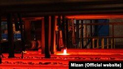 Isfahan steel works, established during the monarch, produces rails and other heavy products. File photo