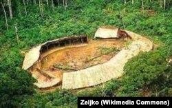 Типичная деревня яномамо