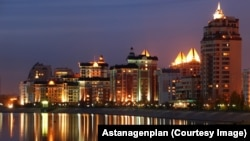 Astana along the water