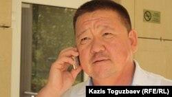 Алшынбай Ыбырай, отец убитого полицейского Адлета Турсынбекова. Алматы, 18 сентября 2013 года.