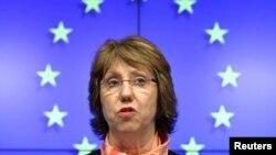 Катрін Аштон розповідає про результати зустрічі у Брюсселі, 3 березня 2014 року