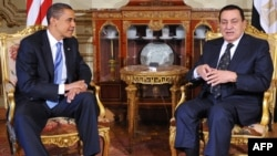Президенты США и Египта Барак Обама и Хосни Мубарак