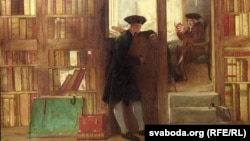 Уільям Ф. Даглас, «Паляваньне кнігалюба альбо Кнігарня Крыча» (1891).