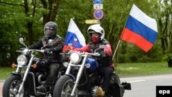 Simpatizuesit e motoçiklistëve rusë në Gjermani