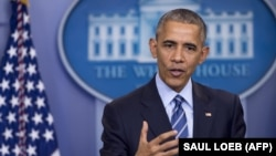 Барак Обама на прес-конференції в Білому домі, 16 грудня 2016 року