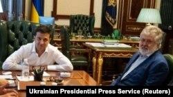 Президент Володимир Зеленський і олігарх Ігор Коломойський, Київ,10 вересня 2019 року