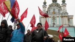 """Акция сторонников оппозиционной партии """"УДАР"""" (Киев, 13 февраля 2014 года)"""