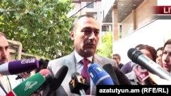 Кандидат в мэры Еревана от блока «Луйс» Артак Зейналян, Ереван, 23 сентября 2018 г.