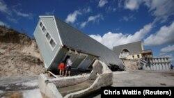 Pamje e shkatërrimeve nga uragani Irma në shtetin Florida