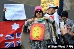 Антикарантинные протесты в Мельбурне