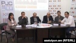 Обсуждение по вопросу конституционных реформ в «Медиа центре», Ереван, 31 марта 2015 г.