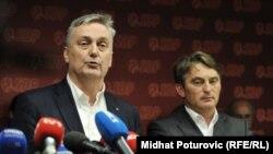 Zlatko Lagumdžija i Željko Komšić ponovo za istim stolom, arhivska fotografija