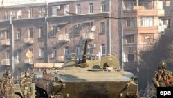 Armenia -- Tanks On The Streets Following Clashes That Left 8 Dead