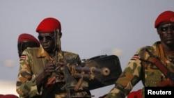 Солдаты правительственной армии Южного Судана в Джубе