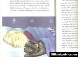 Ілюстрацыі да выданьня «Ката, які любіў дождж» зрабіла маладая мастачка Малін Алін