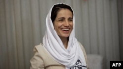 Nasrin Sotoudeh after her release from Evin Prison in 2013