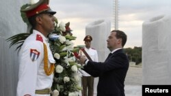 рускиот премиер Дмитри Медведев, Хавана