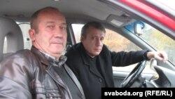 Васіль Альхоўскі (на пярэднім пляне) і Юры Швец