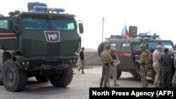 Російські військові поліцейські почали патрулювання уздовж сирійсько-турецького кордону 23 жовтня