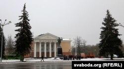 Плошча Леніна а 10-й раніцы