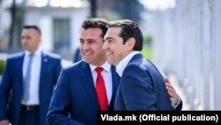 Zoran Zaev i Aleksis Cipras, Skoplje