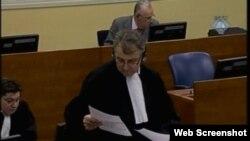 Branilac Miodrag Stojanović u haškoj sudnici, 10. prosinac 2012.