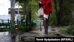 Дождь в Бишкеке. Иллюстративное фото.