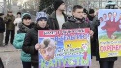 У Луганську на одній площі зібралися і прихильники, і противники Євромайдану